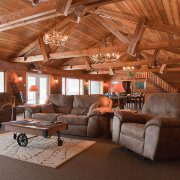 Rustic Hunting Lodge Main Room Phelps WI