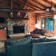 Whitetail Cabin Indoor Fireplace